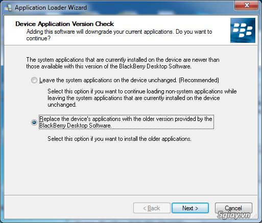 Thủ thuật - Hướng dẫn cài đặt Hệ điều hành (OS) cho BlackBerry ...