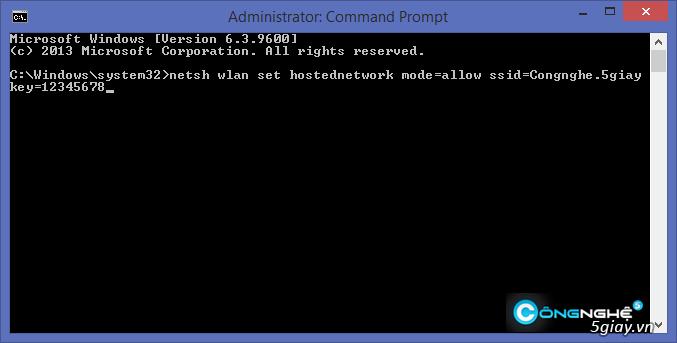 Hướng dẫn phát wifi trên laptop Windows 8.1 - 5435