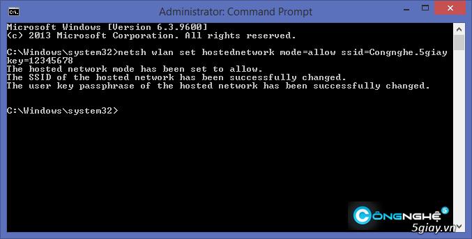 Hướng dẫn phát wifi trên laptop Windows 8.1 - 5436
