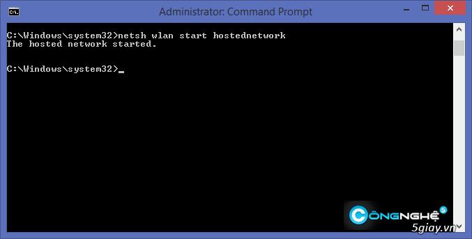 Hướng dẫn phát wifi trên laptop Windows 8.1 - 5437