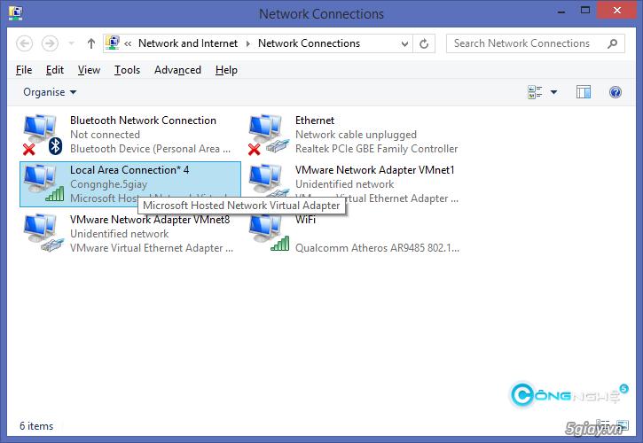 Hướng dẫn phát wifi trên laptop Windows 8.1 - 5439