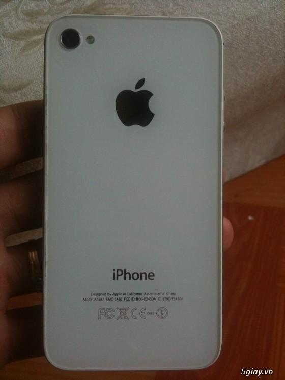 Bán hoặc đổi 2 cây IPHONE 4S trắng 16G. - 1