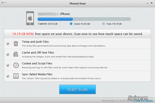 "Thủ thuật - ""Dọn dẹp"" iPhone với phần mềm PhoneClean | Congnghe."