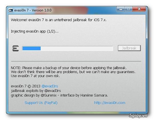 Ứng dụng - Evasi0n 1.0.6 : tool hỗ trợ untethered jailbreak cho ...