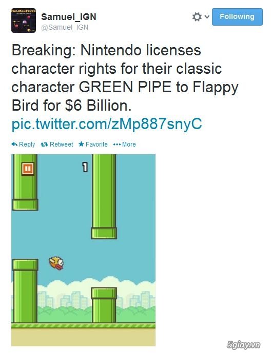 Tác giả Flappy Bird sẽ gặp rắc rối liên quan bản quyền với Nintendo? - 9196