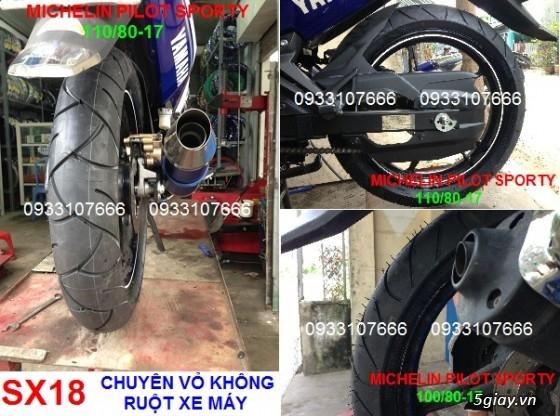 Michelin PILOT SPORTY (gai thể thao) Đã Trở Lại, Size 17'' cho EXCITER, RAIDER và . . - 4