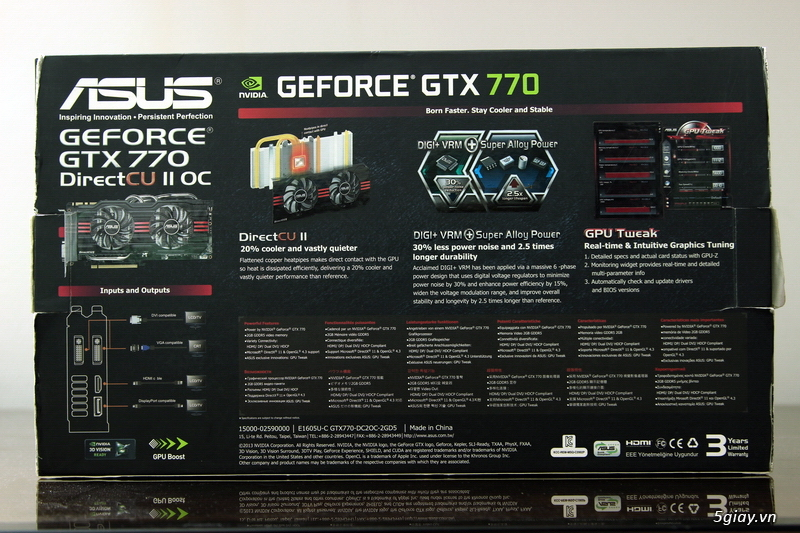 [Review] ASUS GeForce GTX 770 DC2 OC - 13850