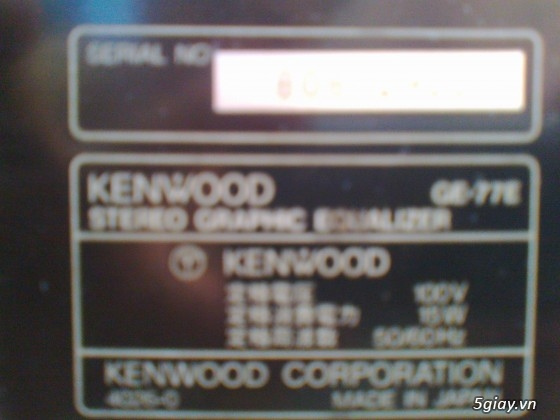Equalizer KENWOOD GE77E, CD SONY - 1