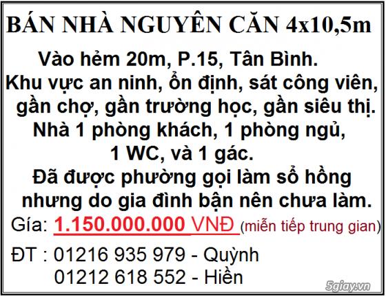 Bán nhà quận Tân Bình, khu vực đẹp thích hợp sống ổn định lâu dài.