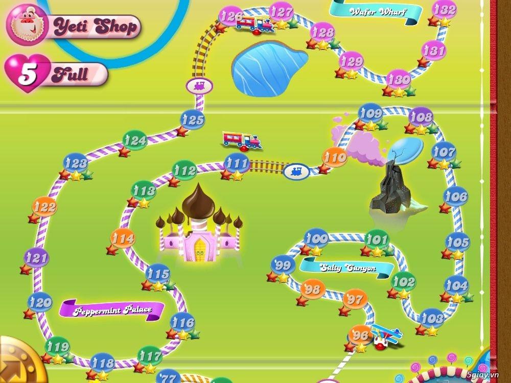 Game - Candy Crush Saga phiên bản Full Life chơi không cần nghỉ ...
