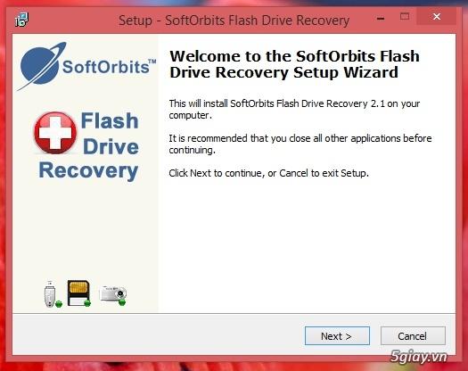 Download SoftOrbits Flash Drive - phần mềm khôi phục dữ liệu đã xóa trên USB - 19323