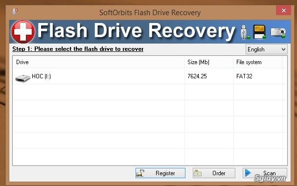 Download SoftOrbits Flash Drive - phần mềm khôi phục dữ liệu đã xóa trên USB - 19324