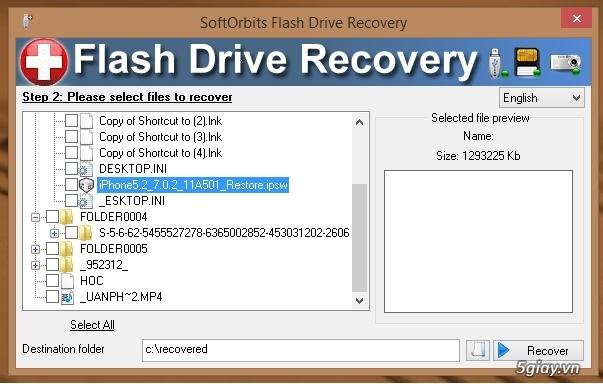 Download SoftOrbits Flash Drive - phần mềm khôi phục dữ liệu đã xóa trên USB - 19326