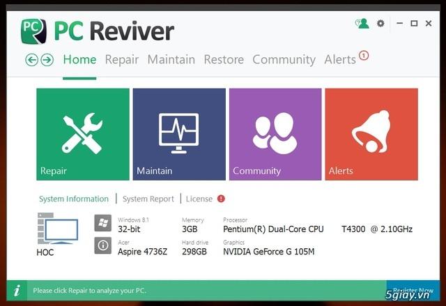 PC Reviver - phần mềm tối ưu hóa Windows và bảo trì định kỳ hiệu quả - 19550