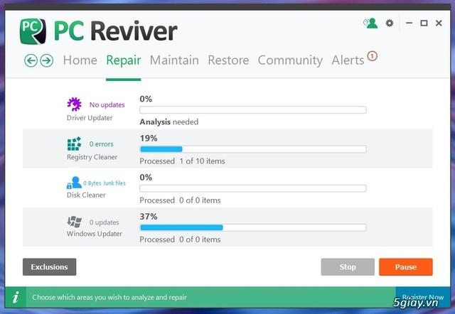 PC Reviver - phần mềm tối ưu hóa Windows và bảo trì định kỳ hiệu quả - 19551