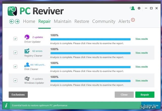 PC Reviver - phần mềm tối ưu hóa Windows và bảo trì định kỳ hiệu quả - 19552
