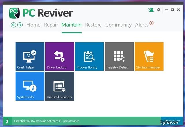 PC Reviver - phần mềm tối ưu hóa Windows và bảo trì định kỳ hiệu quả - 19553
