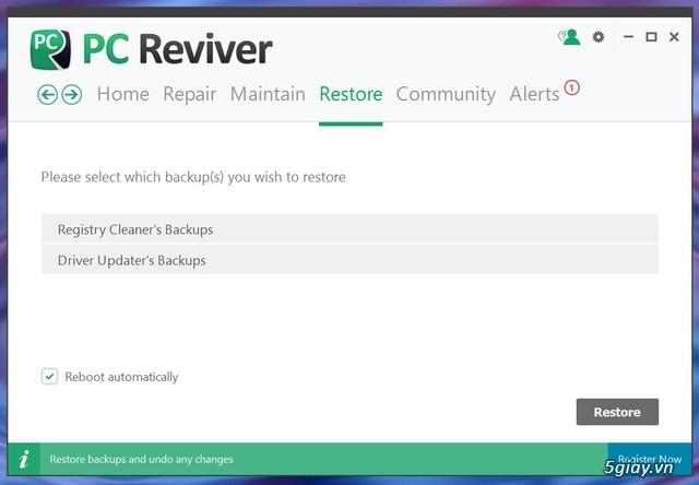 PC Reviver - phần mềm tối ưu hóa Windows và bảo trì định kỳ hiệu quả - 19554