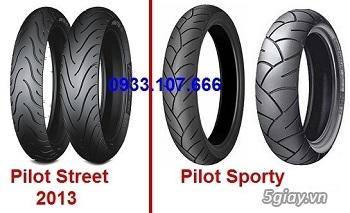 Michelin PILOT SPORTY (gai thể thao) Đã Trở Lại, Size 17'' cho EXCITER, RAIDER và . . - 2