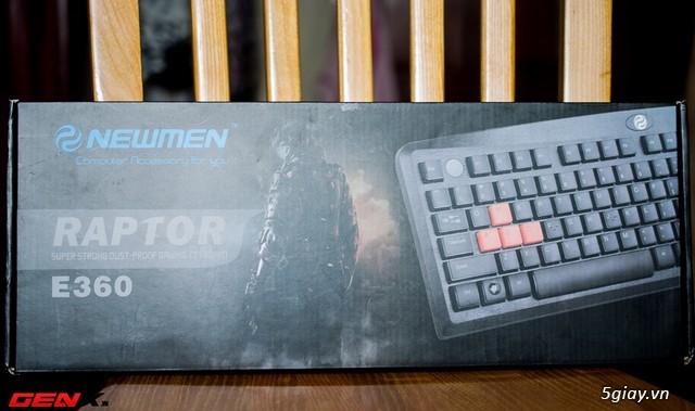 Bàn phím Newmen E360, món hàng hot cho game thủ bình dân và tiệm Net - 31791