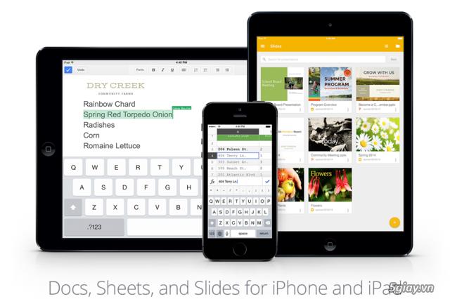 Ứng dụng Slides của Google chính thức ra mắt cho iPhone, iPad