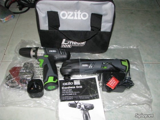 Chuyên Máy Khoan và Bắt Ốc Vít SD Pin từ 12=>18V Hiệu Ozito (Australia) luôn Có Pic! - 2