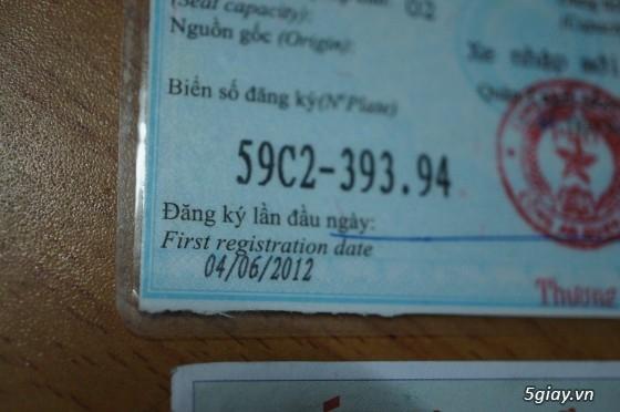 Honda Air blade thái fi đen đăng ký 04/6/2012, zin 100%,chính chủ bán,bản số đen luôn