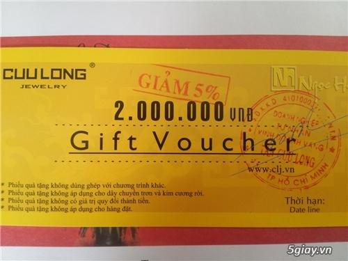 Gift Voucher 2 Triệu Viên Kim Cương 2li Tại Cửu Long Jewelry 900k
