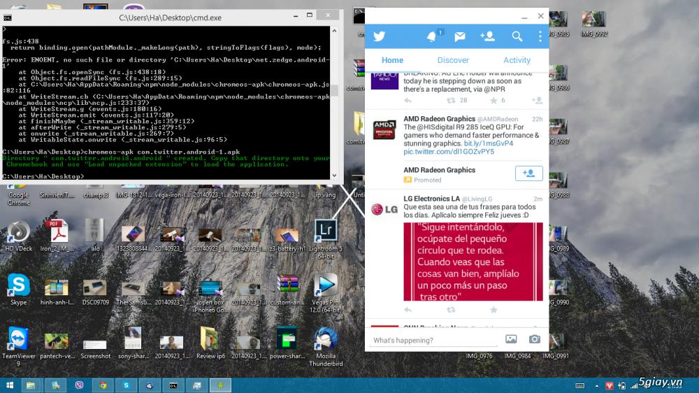 [Hướng dẫn] Chạy ứng dụng Android bằng Chrome trên Windows