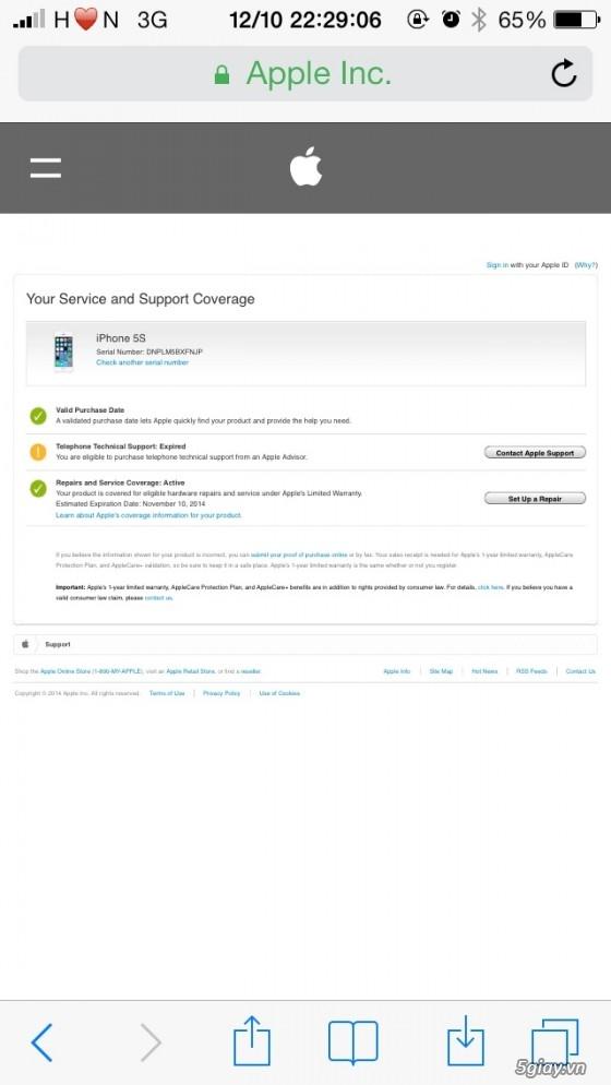 Iphone 5s, Gold 32g (world), fullbox 99%, bán hay giao lưu - 2