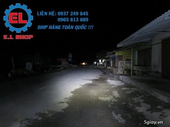 E.L SHOP Đèn led siêu sáng xe mô tô: XHP50, XHP70 i7, Cree, Philips Lumiled,Gương cầu LED xe gắn máy - 9