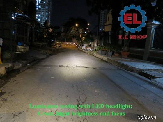 E.L SHOP Đèn led siêu sáng xe mô tô: XHP50, XHP70 i7, Cree, Philips Lumiled,Gương cầu LED xe gắn máy - 12