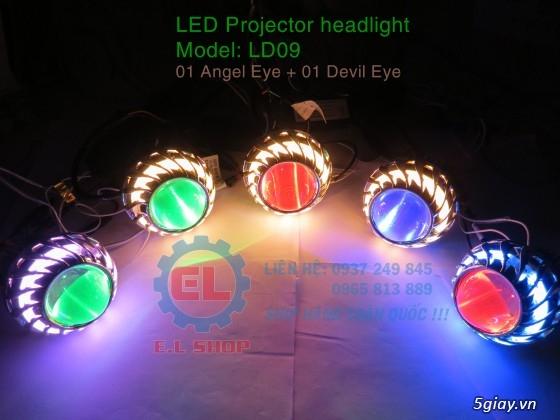E.L SHOP Đèn led siêu sáng xe mô tô: XHP50, XHP70 i7, Cree, Philips Lumiled,Gương cầu LED xe gắn máy - 6