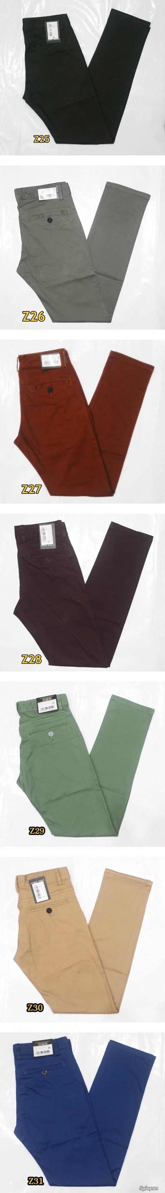 Quần kaki ZARA SlimFit,quần jean Levi's 511 SlimFit,quần short SuperDry,short jean CK - 42