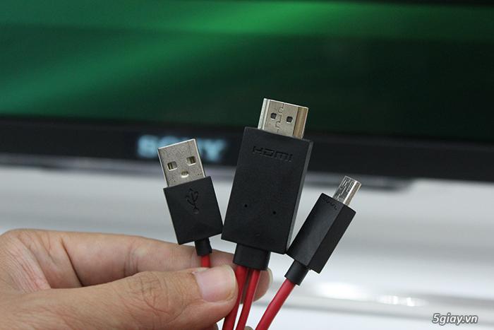 Cách kết nối điện thoại với tivi qua cáp MHL - 42831