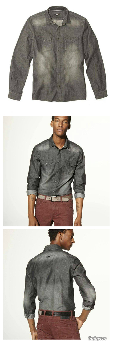[MR.BEAN] Quần jean, áo sơ mi, áo thun nam, mũ nón, giày dép (Holliter, Aber...) - 36