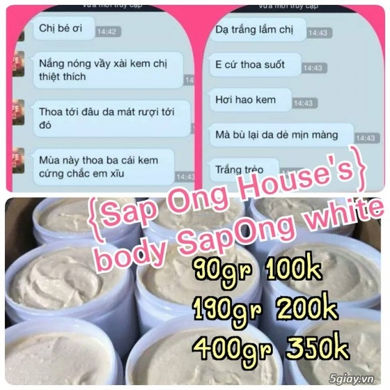 {SÁP ONG HOUSE'S}Body kích Sapong white,Face Pro 5 ngày trắng,Face Kích Teen,Face Mụn - 22