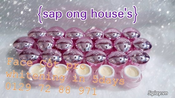 {SÁP ONG HOUSE'S}Body kích Sapong white,Face Pro 5 ngày trắng,Face Kích Teen,Face Mụn - 2
