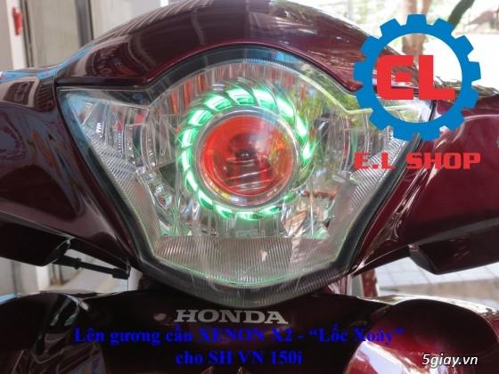 E.L SHOP Đèn led siêu sáng xe mô tô: XHP50, XHP70 i7, Cree, Philips Lumiled,Gương cầu LED xe gắn máy - 34