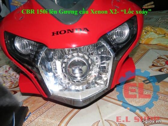 E.L SHOP Đèn led siêu sáng xe mô tô: XHP50, XHP70 i7, Cree, Philips Lumiled,Gương cầu LED xe gắn máy - 38