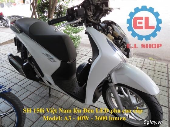 E.L SHOP Đèn led siêu sáng xe mô tô: XHP50, XHP70 i7, Cree, Philips Lumiled,Gương cầu LED xe gắn máy - 45