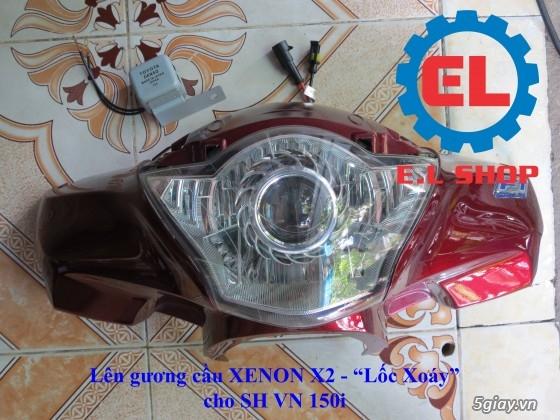 E.L SHOP Đèn led siêu sáng xe mô tô: XHP50, XHP70 i7, Cree, Philips Lumiled,Gương cầu LED xe gắn máy - 33