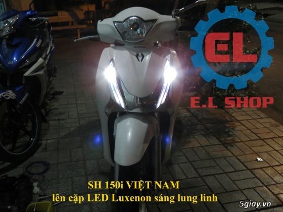 E.L SHOP Đèn led siêu sáng xe mô tô: XHP50, XHP70 i7, Cree, Philips Lumiled,Gương cầu LED xe gắn máy - 47