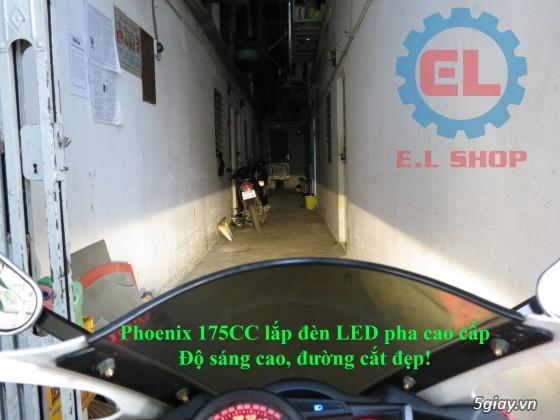 E.L SHOP Đèn led siêu sáng xe mô tô: XHP50, XHP70 i7, Cree, Philips Lumiled,Gương cầu LED xe gắn máy - 21