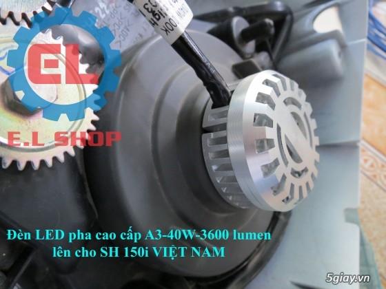 E.L SHOP Đèn led siêu sáng xe mô tô: XHP50, XHP70 i7, Cree, Philips Lumiled,Gương cầu LED xe gắn máy - 46