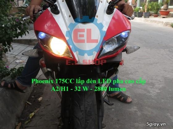 E.L SHOP Đèn led siêu sáng xe mô tô: XHP50, XHP70 i7, Cree, Philips Lumiled,Gương cầu LED xe gắn máy - 20