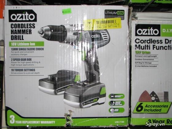 Chuyên Máy Khoan và Bắt Ốc Vít SD Pin từ 12=>18V Hiệu Ozito (Australia) luôn Có Pic! - 23