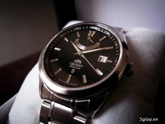Đồng hồ Orient Automatic hàng nhập Mỹ kính Saphire FFD0F001B0 Vintage Power Reserve - 2