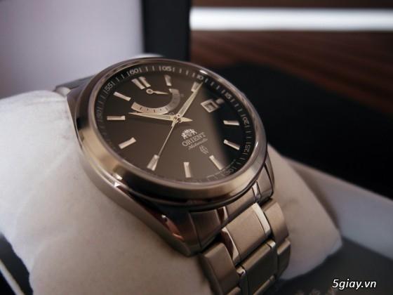 Đồng hồ Orient Automatic hàng nhập Mỹ kính Saphire FFD0F001B0 Vintage Power Reserve - 3