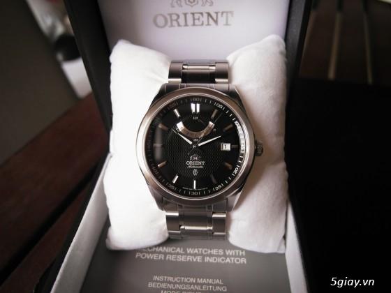 Đồng hồ Orient Automatic hàng nhập Mỹ kính Saphire FFD0F001B0 Vintage Power Reserve - 1
